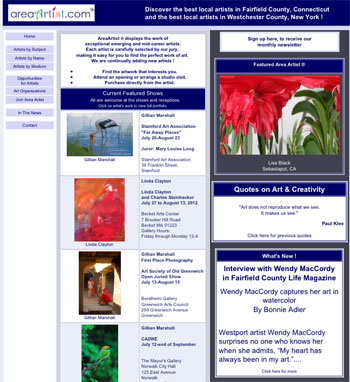 Area Artist Websites