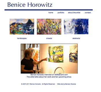 Benice Horowitz website for artist